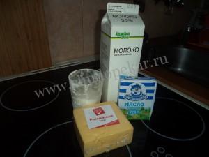 Продукты для сырной соломки.
