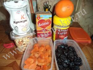 Продукты для приготовления конфет.