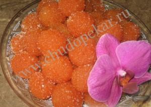 Конфеты морковные - рецепт