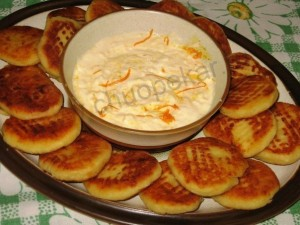 Апельсиновые сырники.