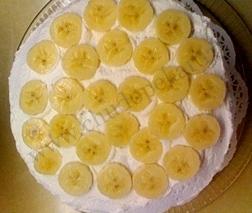 Банановый торт-суфле