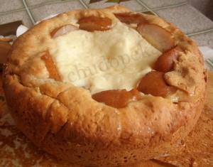 Грушевый пирог готов.