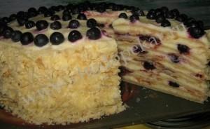 Быстрый торт на сковороде.